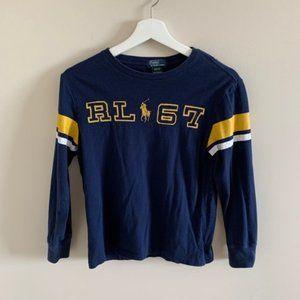 Ralph Lauren Boys Rugby Long Sleeve Tee Shirt